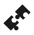 puzzles piece teamwork idea silhouette style icon vector image