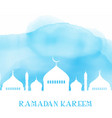 ramadan kareem background with mosque silhouette