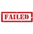 Red stamp failed vector image vector image