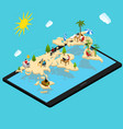 remote managing concept 3d isometric view vector image vector image