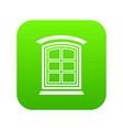 retro window frame icon green vector image vector image