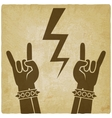 rock and roll symbol old background concept of vector image vector image