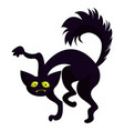 scary black cat icon cartoon style vector image