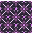 Seamless floral background Isolated lilac roses vector image