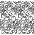 seamless pattern entangle ornament coloring book vector image vector image