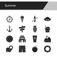 summer icons design for presentation graphic vector image vector image