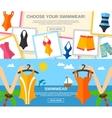 Swimwear Flat Banner Set vector image