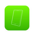 tablet computer icon green vector image vector image