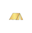 tent computer symbol vector image vector image
