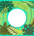tropical leaves round pattern vector image