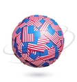 US flags sphere vector image vector image