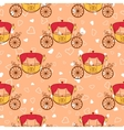 wedding retro carriage seamless pattern vector image vector image