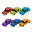 Set of isometric car vector image