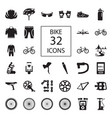 bike 32 icons vector image
