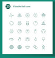 25 ball icons vector image vector image