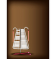 A Musical Bell Lyra on Dark Brown Background vector image vector image