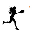 a woman is a tennis player vector image vector image