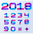 abstract transparent numbers vector image