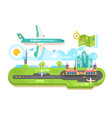 airport building infrastructure with plane vector image vector image