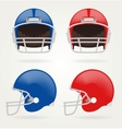American football Set Football Helmets vector image vector image