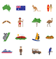Australia Flat Icons Set vector image vector image