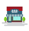 Bar or restaurant of flat style building vector image vector image