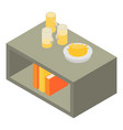 beer on living room table icon isometric style vector image
