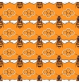 Bees honey seamless pattern in brown and vector image vector image