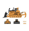 bulldozer in realistic style vector image