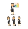 Businesswoman character set vector image vector image