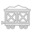 Cart on wheels with gold icon outline style vector image vector image