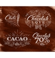 Chocolate labels collection brown vector image vector image