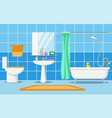 clean beautiful bathroom interior vector image