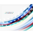 Colorful modern wave line business abstract vector image vector image