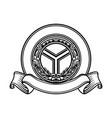 crest emblem logo template creative concept vector image vector image