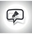 Curved pen nib message icon vector image vector image