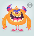 cute angry cartoon monster vector image