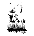 Dandelion Flight Fantasy Concept vector image
