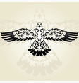 decorative seagull vector image vector image