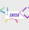 enter to win banner with frame vector image vector image