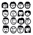 face icon vector image vector image