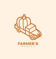 farmers market vector image vector image
