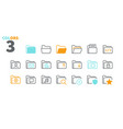 folder ui pixel perfect well-crafted thin vector image vector image