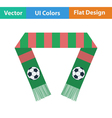 Football fans scarf icon vector image vector image