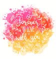 forever in love with you text vector image