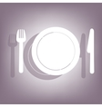 Fork plate and knife icon vector image vector image