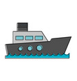 freigther boat ship vector image vector image