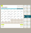 french calendar 2018 vector image vector image
