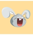 Funny hare head screaming Cartoon design vector image vector image