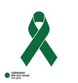 gallbladder and bile duct cancers ribbon vector image vector image